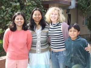 The lovely people I stayed with in Tahmel, Nepal