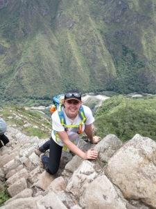 climbing in Machu Picchu