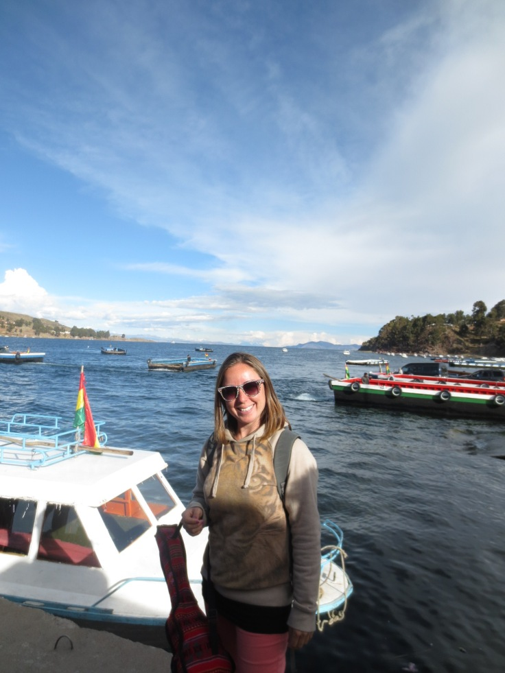 Jess on Lake Titikaka Bolivia