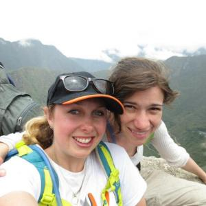 Naomi, my adopted lil sister, and I on top of Huyana Picchu - behind Machu Picchu in Peru