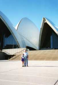 Opera House Sydney when I was 8 with my American relative.