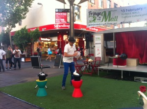 Anthony Demasi - Comedian and Magician performing in Rundle Mall, Adelaide Fringe Festival