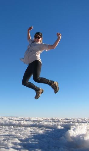 emma jumping desert