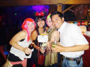 Halloween Party with an old Australian Friends and new friends in Cusco, Peru