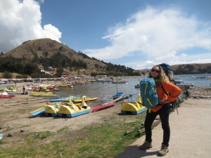 On the shores of Copacabana in Bolivia