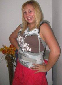 Emma with broken back in October 2009