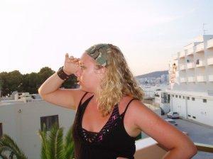 Emma in Ibiza in 2006