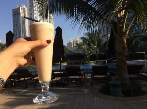 MY favourite cold coffee drink by the pool
