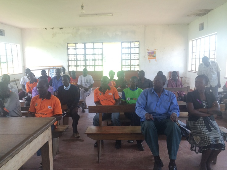A sub county meeting of amazing World Vision volunteers and staff in Nabukalu ADP