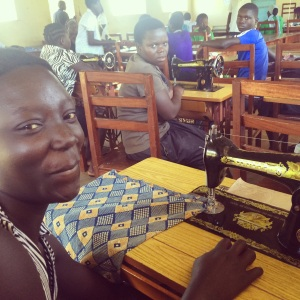 Sewing skills mean these women can get  jobs or run their own businesses