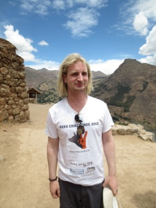 Nic Newling - Peru Challenge 2013 for Black Dog Institute- Sponsor T shirt