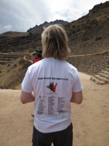 Nic Newling - Peru Challenge 2013 for Black Dog Institute- Sponsor Thank you T shirt