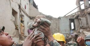 4 month baby rescued after 22 hours - sent by my friend Bishaka in Kathmandu