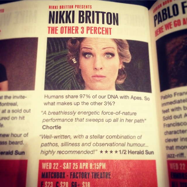 So_stoked_I_got_to_see__thenikkibritton_in__Sydney_at_the__sydneycomfest__She_s_got_two_nights_left_at__thefactorytheatre_in_Marrickville__Don_t_miss_it__