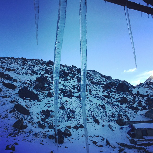 The_view_out_my_window_the_morning_of_trekking_to__everest_from__Lobuche_..._Yes___icicles_-19_____everestbasecamptrek2015