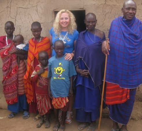 Meeting my sponsor child and his family in Tanzania in 2008
