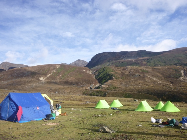 CAMP in the himalayas