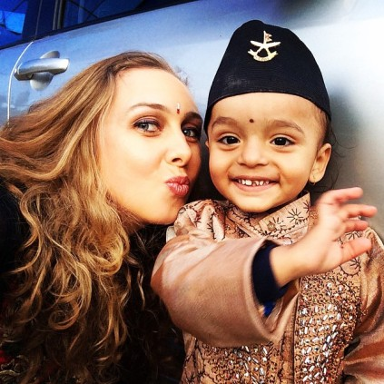 Stealing_a_kiss___wave_from_the_big_birthday_boy_before_his_2nd_birthday_party_in__Kathmandu__nepal.